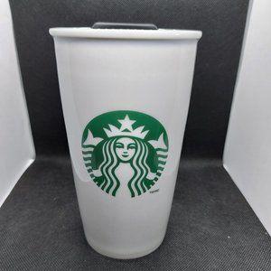 Starbucks Classic White & Green Coffee Traveller